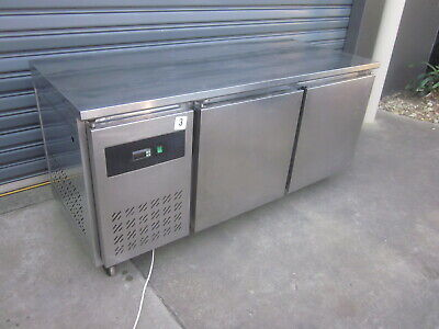 Ice Blue Two Door Under Bench Fridge.stainless Steel Commercial