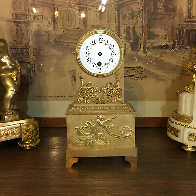 French clock: bronze case + movement: for hobbyists - repair - spare parts