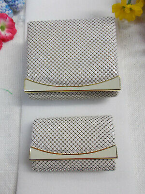Lovely Victory A Aluminium Purse And Key Wallet - White / Gold Cream New # 464