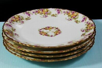 "Lot of 4 Antique (1900-1914) Elite Works, Limoges, France, 6.7"" (17 cm) Plates"