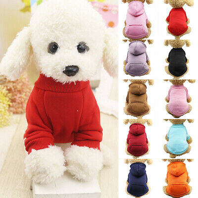 Pet Coat Dog Jacket Cat Warm Coral Fleece Clothing Hoodie Clothes Puppy Apparel