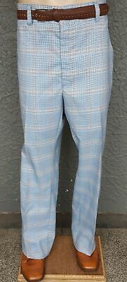 """Checked golf pants, 1970's, USA, Polyester/cotton, size 40"""""""