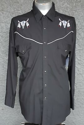 Western shirt by 'Ely Diamond' USA,  Polyester/cotton, size 2XL