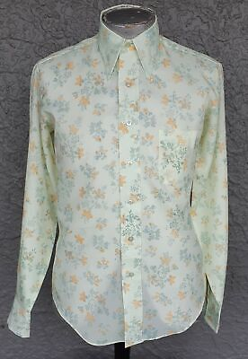 Disco shirt, 1970's, polyester by 'Howland' USA size L-XL.