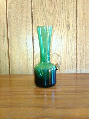 Pitcher Hand Blown Glass Collectable Vintage