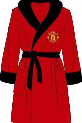 Manchester United FC Mens Dressing Gown Bathrobe Supersoft Fleece Sizes S M L XL