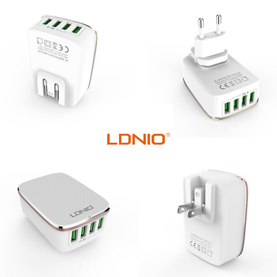 LDNIO 4 Port Multiple Multi USB Power Charger 4.4A Smartphone Mobile