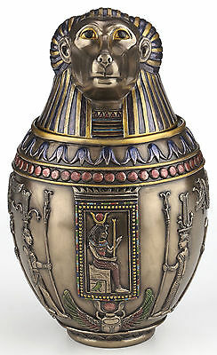 Bronze Hapi Canopic Jar Egyptian God of the Nile Statue Sculpture - BRAND NEW