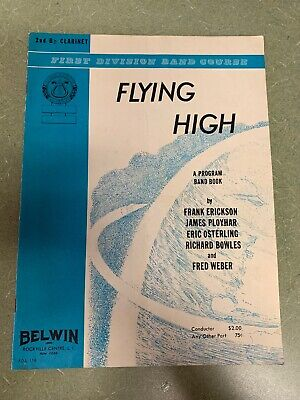 First Division Band Course Flying High 2nd B-Flat Clarinet 1963