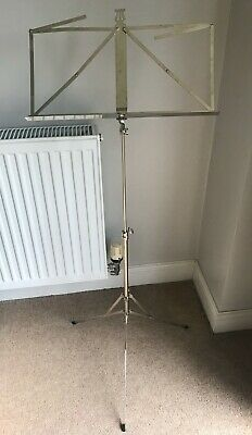 Boxed Chrome / Nickel Folding Stand For Sheet Music Adjustable Height