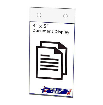 "Sign Holder Ad Frame 3""W x 5""H Wall Mount with Mounting Holes"