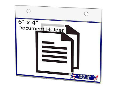 "Sign Holder Ad Frame 6""W x 4""H Wall Mount with Mounting Holes"