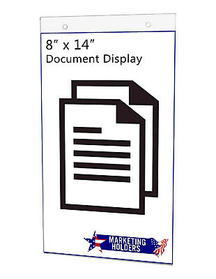 "Sign Holder Ad Frame 8.5""W x 14""H Wall Mount with Mounting Holes"