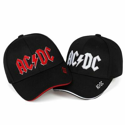2019 ACDC Baseball Cap Trendy Hip-Hop AC/DC Embroidery Dad Hat Two Colors