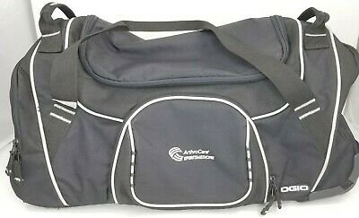 Ogio Wheeled Duffel Bag Black Roller Carry On Luggage Suitcase Travel 22 Inch