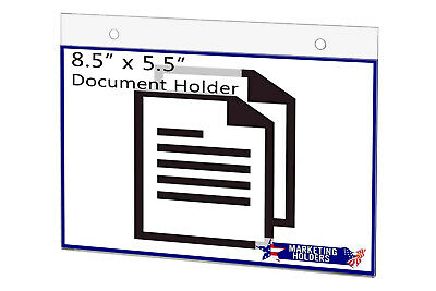 """Sign Holder Ad Frame 8.5""""W x 5.5""""H Wall Mount with Mounting Holes"""