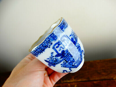 Antique Chinese Export Porcelain Coffee Cup Blue and White 18th Century Qianlong