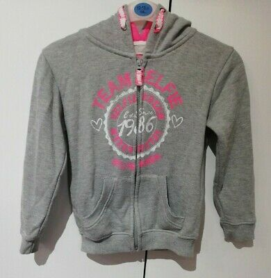 Primark Girls Grey Jumper Zipped Hoodie 7-8 Years Pre-owned