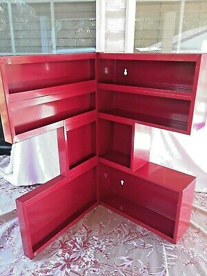 """Red"" Metal U Shape Wall Mount ""Storage Container"""