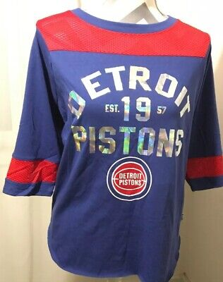 X-Large Touch by Alyssa Milano NBA Detroit Pistons Blindside Thermal Royal