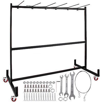 Folding Chair Cart Dolly Rack W/Locking Casters Max 42 Chairs 12 Tables Hanging