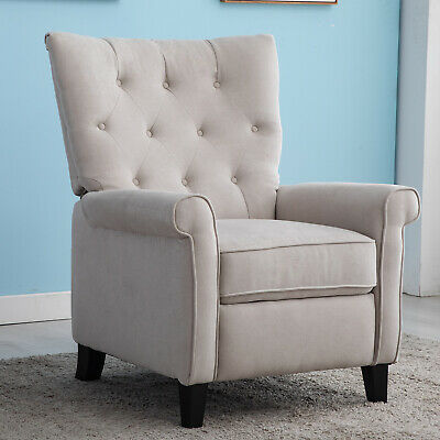 Elizabeth Recliner Chair Accent Push Back Sofa Padded Seat Elegant Home Decor🥇