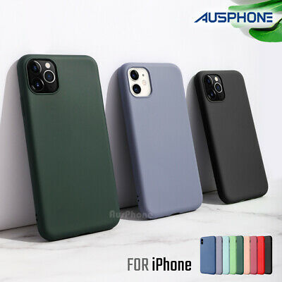Shockproof Liquid Silicone Thin Cover Soft Slim Case for iPhone 11 Pro XS MAX XR