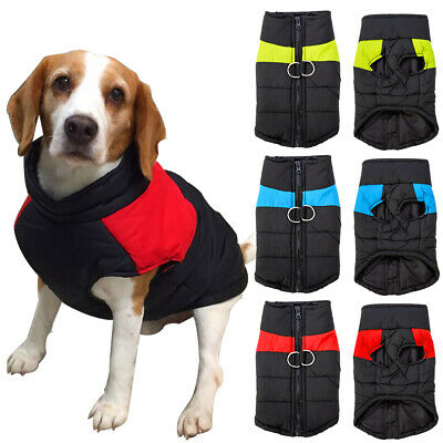 Waterproof Small Large Pet Dog Clothes Winter Warm Padded Coat Puppy Vest Jacket