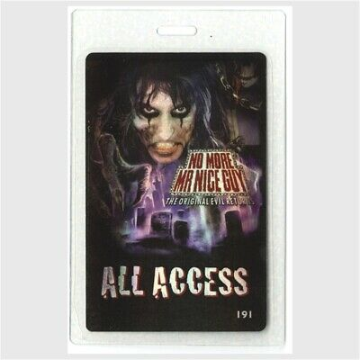 ALICE COOPER /& WARRANT 1997 Laminated Backstage Pass