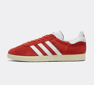 Mens Adidas OG Gazelle Red Trainers (PF2) RRP £68.99