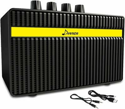 Donner Rechargeable Mini Electric Guitar Amplifier Speaker AMP 3W 2 Channels
