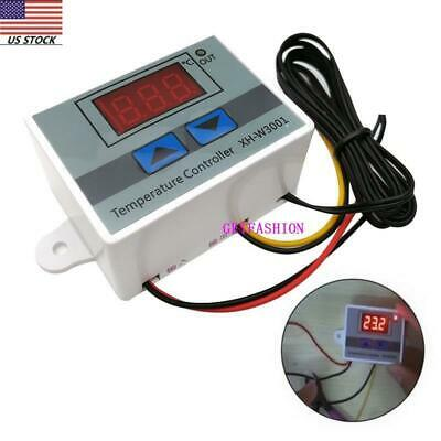 Incubator Digital Temperature Controller Thermostat Control With Switch+Probe HO