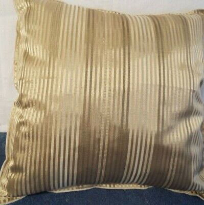 24 inch EXTRA LARGE GIANT CUSHION BROWN AND BEIGE PINSTRIPE