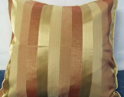24 inch EXTRA LARGE GIANT CUSHION TERRACOTTA AND GOLD