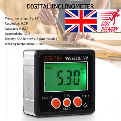 Magnetic LCD Digital Inclinometer Level Box Gauge Angle Meter Finder Protractor