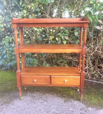 Vintage Reproduction Hardwood Three Tier Bookcase/Whatnot