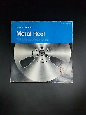 "Realistic 7"" Metal Reel With 1/4"" RecordingTape"