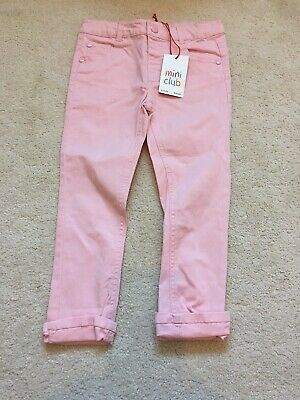 BNWT Girls Mini Club Pink Jeans Age 3-4 Years