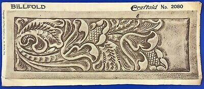 Vtg Craftaid Leather Billfold Template #2080 1977 Craftool Pattern