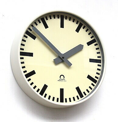 WEST GERMAN1980s Midcentury Vintage Retro Industrial Factory Office Wall Clock