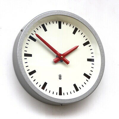 EAST GERMAN1960s Midcentury Factory Retro Vintage Industrial Wall Clock
