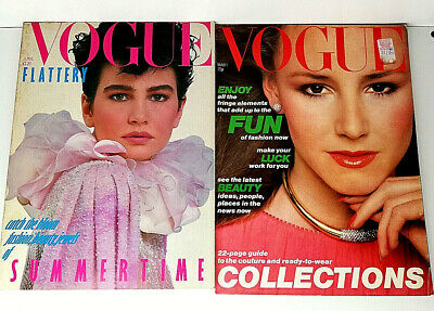 Vintage Vogue Magazine June 1982 And March 1St 1978