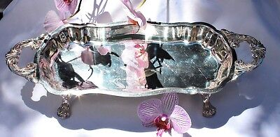 Claw-footed SILVER APPETIZER SERVING DISH~New LOWER Price~Was$50~CLEARANCE