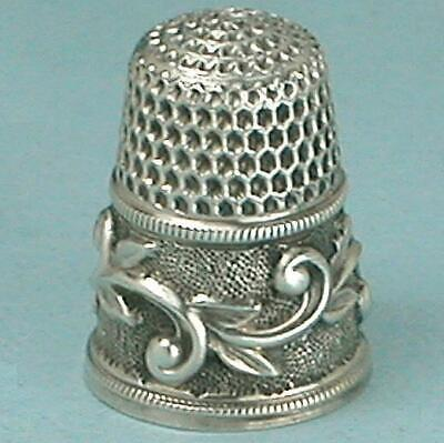 Antique Sterling Silver Scrolling Vines Child's Thimble /Waite, Thresher* C1890s