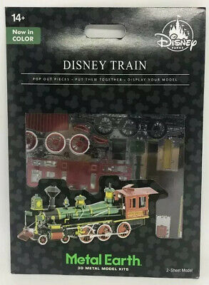 Disney Parks Train Colored Metal Earth Model Kit 3D New