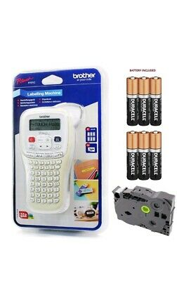 Brother Hand Held Label Maker Labelling Print Machine + Tape +Batteries PT-H101C