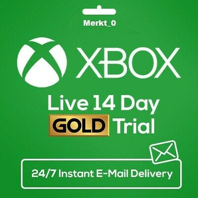 XBOX LIVE 14 Day GOLD Trial Membership Code INSTANT DISPATCH - Only XBOX ONE
