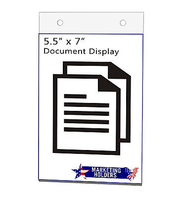 "Sign Holder Ad Frame 5.5""W x 7""H Wall Mount with Mounting Holes"