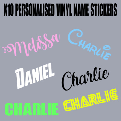 x10 Personalised vinyl decal name stickers wine glass hen wedding xmas christma