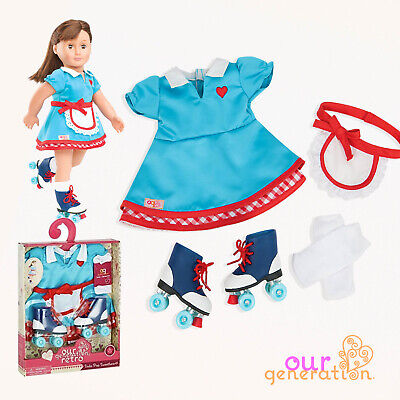 NEW OUR GENERATION DOLL - SODA POP SWEETHEART Regular Retro Outfit ROLLER SKATES
